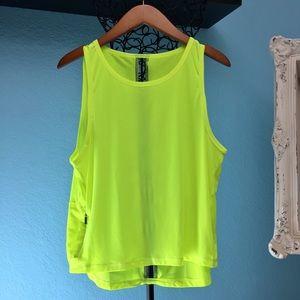 Victorias secret sport - neon yellow tank nwot